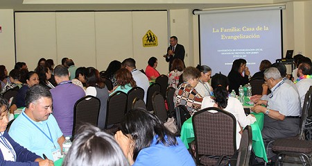 Reaching Others -- Conference speaker Andres Arango shares insights on effective evangelization tools. Rose O'Connor photo