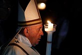 At Easter, the stones of sin, despair, are rolled away, Pope says at vigil