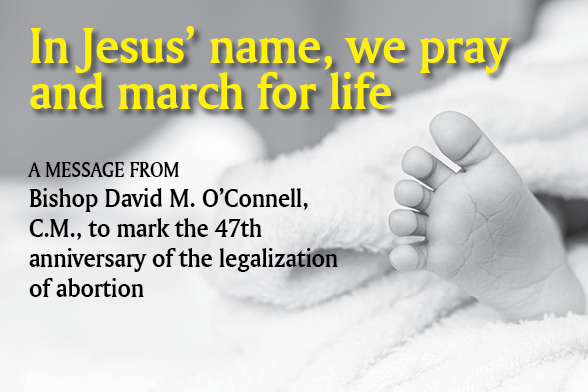 Bishop O'Connell: 'Nothing more fundamental, precious than the right to life'