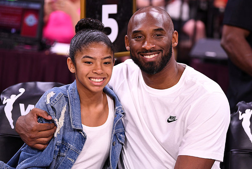 Retired NBA legend Kobe Bryant and his daughter Gianna, 13, were among nine people killed Jan. 26, 2020, in a helicopter crash in Calabasas, Calif. The two Catholics are pictured during a game in Las Vegas July 27, 2020. CNS photo/Stephen R. Sylvanie-USA TODAY Sports via Reuters