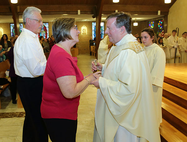 Thanks to the love and support of St. Justin the Martyr parishioners, the Toms River parish has raised more than $23,000 through the Diocese's emergency fund. Father Mark Kreder, seen in this 2017 photo, says his parishioners are so generous, all he had to do was ask. John Blaine file photo