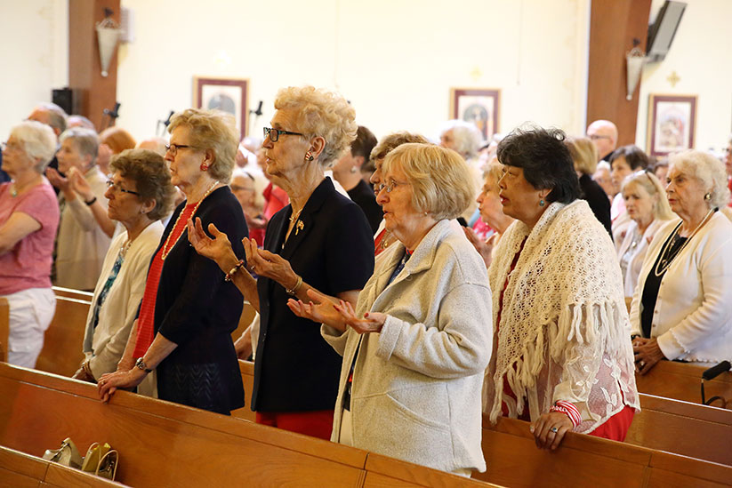 Participants gather for Mass during a Spirituality Day offered for senior citizens of the Diocese. In his column, Father Ron Rolheiser focuses on the importance of spiritual offerings being made available for the senior population. John Batkowski photo