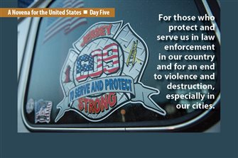 Day #5 of Election Novena focuses on those who protect, serve in law enforcement, and end to violence