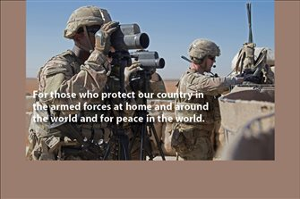 Day #6 Election Novena for those who protect our country in the armed forces at home, around the world