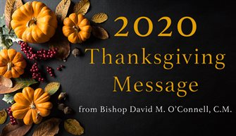 A message from Bishop O'Connell: Thanksgiving – taking gratitude a step further