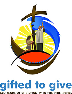 This is the official logo for the jubilee year to mark the 500th anniversary of the arrival of Christianity in the Philippines. CNS photo/courtesy Catholic Bishops' Conference of Philippines