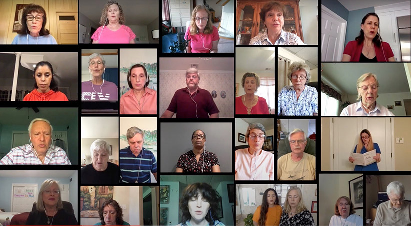 "Members of the St. Anselm Parish choir, Tinton Falls, singing ""If You Love Me"" by Joel Raney in their ""COVID-19: Stories of Hope"" video."